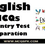 English MCQs Chapter Wise For Entry Test Preparation
