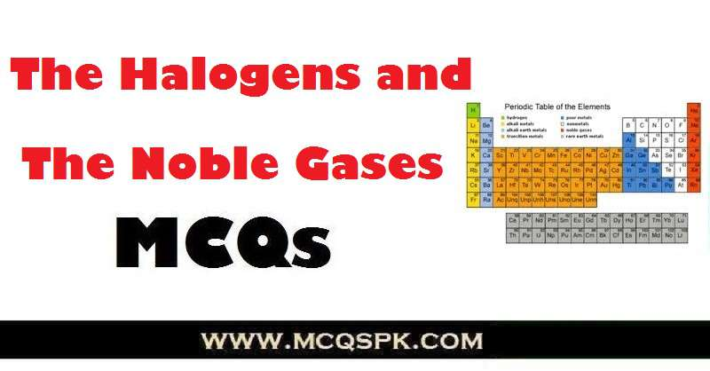The Halogens and The Noble Gases MCQs